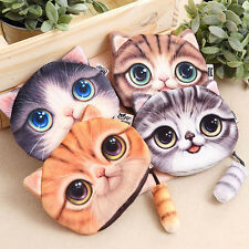 New Coin Bag Purse Fashion Cute Small Tail Cat Coin Purse Wallet With Zipper