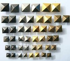 Rivets Burr Set for Leather Bags Shoes Square Pyramid Dome Steel Plated 6-12mm