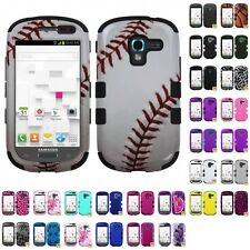 For Samsung Galaxy Exhibit T599 Hybrid TUFF IMPACT Phone Case Hard Rugged Cover