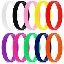 10 Colors Sports Silicone Wrist band Rubber Bracelet Wristbands Baller Bands