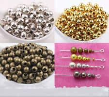 Wholesale Metal Round Spacer Beads 2.5mm 3mm 4mm 5mm 6mm 8mm