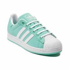NEW Womens adidas Superstar Canvas Athletic Shoe Mint Tiff Shoes Stripes Yeezy