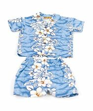 Boy's Hawaiian Flowers Cabana Set (Shirt and Pants)