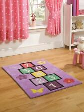 Flair Rugs Kiddy Play Hopscotch Purple Multi Childrens Rug 2 Sizes