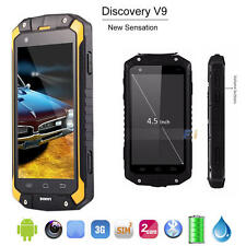 "Unlocked 4.5"" Waterproof Phone Discovery V9 Dual SIM Android GPS WIFI Smartphone"