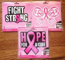 Breast Cancer Awareness Magnet~Bumper Sticker~Hope~Fight Strong Butterfly Ribbon