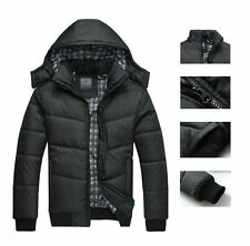 Fashion Mens Warm Hoodie Hooded Parka Winter Cotton Coat Outwear Down Jacket New