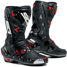 Sidi Vortice Motorcycle Racing / Riding Boots Black / Black  Mens Sizes 40 - 48