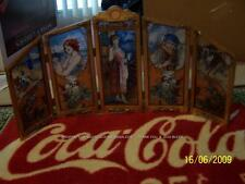 RARE 1986 Coca Cola Screen 4 SEASON 5 PANEL STAINED Coke GLASS Drink HISTORICAL