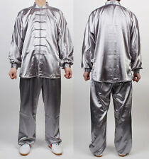 Wushu TaiChi Uniform Silver Chinese Kung Fu China Tai KungFu uniforms  Chuan