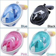 Snorkel Mask With GoPro Mount Full Face Design Scuba Diving Goggles Snorkeling