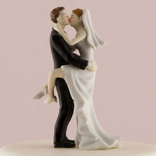 Kissing Couple Sexy Porcelain Bride Groom Wedding Cake Top Topper