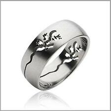 Lizard Carved Stainless Steel Fashion Engagement Wedding Band Ring Sz 9-13