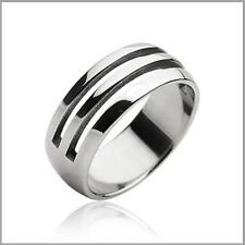 Carved Half Way Men Stainless Steel Fashion Engagement Wedding Band Ring Sz 9-12