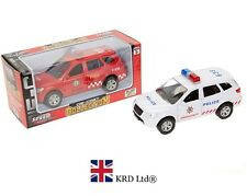 """5.5"""" DIE CAST POLICE CAR FIRE VEHICLE Toy Kids Birthday Gift Party Bag Filler UK"""