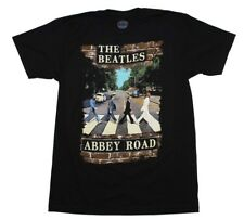 Beatles Abbey Road Brick Photo T-Shirt Officially Licensed Black Mens S M L XL