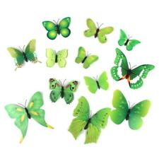 12pcs 3D Artificial Butterfly Home Wedding Party Wall Decoration Sticker Decal