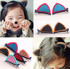 Cute Cat Ear Hairpins Hair Clip Pin Cosplay Ears Fancy Costume Girls Hair Decor