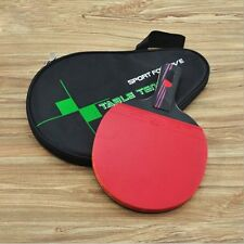 Wood Handle With Bag Table Tennis Racket Bat Ping Pong Paddle Carbon Fiber