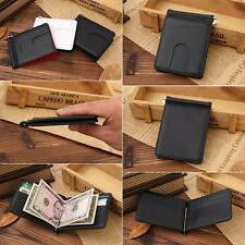 Luxury ID Credit Card Holder Money Clip Real Leather Wallet Men's Slim