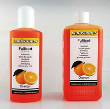Foot Bath Lotion with Orange Extract tired stressed feet legs relaxing chiropody