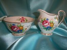 "Tuscan Fine English Bone China ""Bouquet"" Creamer & Sugar Bowl"