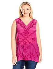 Lucky Brand Women's Plus SZ Embroidered Shell Tank Top - Choose SZ/Color