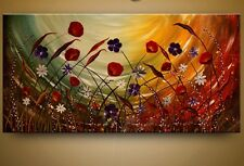 Handcraft Modern Wall Art Abstract Flower Oil Painting on Canvas (+ framed )