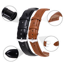 12-24mm New Casual Unisex Genuine Leather Black Brown Watch Strap Band