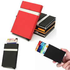Hot Aluminum Slim ID Credit Card RFID Protector Holder Case Purse Secure Wallets