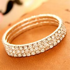 Bridal Fashion Bright Zircon Rhinestone Prom Stretch Anklet Bracelet Crystal