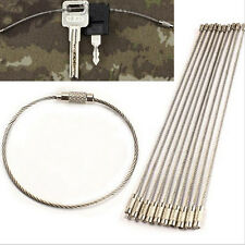10/20/50Pcs EDC Wire Rope Key Ring Stainless Steel Wire Chain Pendant Loop  LD
