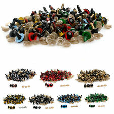 Wholesale 100Pcs Color Plastic Safety Eyes For Doll Animal Puppet Craft 10-18mm