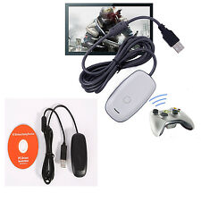 OFFICIAL MICROSOFT XBOX 360 WIRELESS CONTROLLER RECEIVER FOR WINDOWS PC GAME LQ