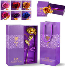 24K Gold Foil Rose Flower Floral Love Valentine's Day Mother's Day Free Gift Box