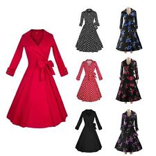 50s 60s Multi-style Sexy Retro V-neck Swing Rockabilly Pinup Prom Party Dress