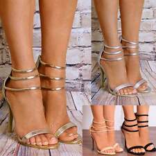 BARELY THERE PEEP TOES ANKLE STRAP PLATFORMS HIGH HEELS SHOES STRAPPY SANDALS