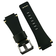 B & R Bands Black Classic Vintage Leather Bell & Ross Watch Band Strap BR01 BR03