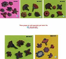 ASSORTED  FLOWERS -  HANDMADE CERAMIC MOSAIC TILES ( Pick you Group) #17