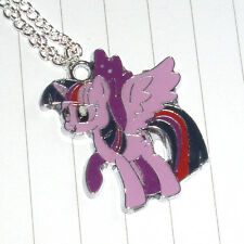 Kitsch Kawaii Cute 80s Retro My Little Pony Enamel Charm Necklace