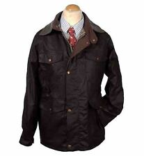 Oxford Blue Traditional Waxed Cotton Jacket Coat England Great Britain Rain M