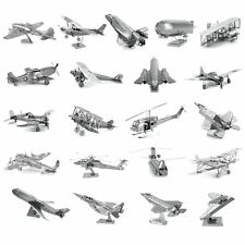 3D Metal Model Puzzle DIY Aircraft Laser Cut Assembly Jigsaw Toy Gift Decoration