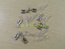 50/100pcs 6.3mm Crimp Spring Terminal Female Spade Connector + 50/100pcs Case