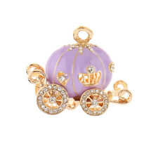 Fairy Pumpkin Carriage Charm DIY Keychain Accs DIY Necklace Pendant Craft Gift