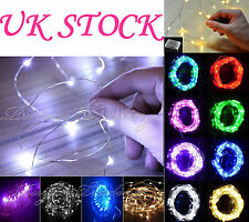 20/50/200 LED MICRO METAL WIRE STRING FAIRY PARTY XMAS WEDDING CHRISTMAS LIGHT