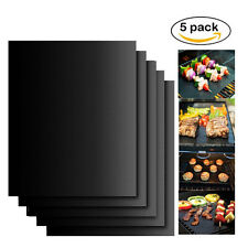 BBQ Grill Mats Teflon non-stick reusable sheet baking mat for cooking Outdoor 5p