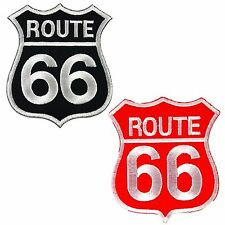 Route 66 Highway Road Sign Biker Embroidered Sew Iron on Patch