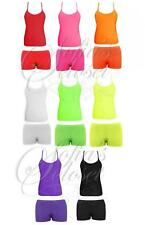 Vest Hotpants Shorts Top Dance Group Microfiber Gym PE Active Kids Girls Child