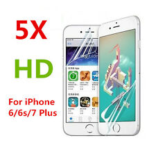 5PCS Front/Back Clear Film HD LCD Screen Protector Foil For iphone 7 6s 6 Plus