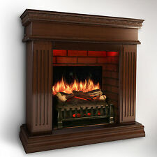 MagikFlame Realistic Electric Fireplace [CHERRY] w/ Sound Insert/Mantel + Heater
